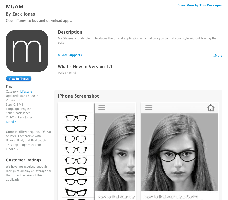 The MGAM App at the iTunes Store