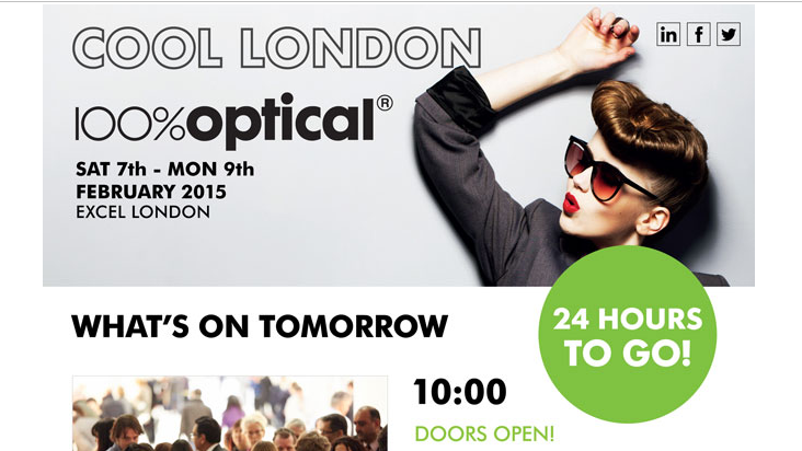 100% Optical Opens Tomorrow