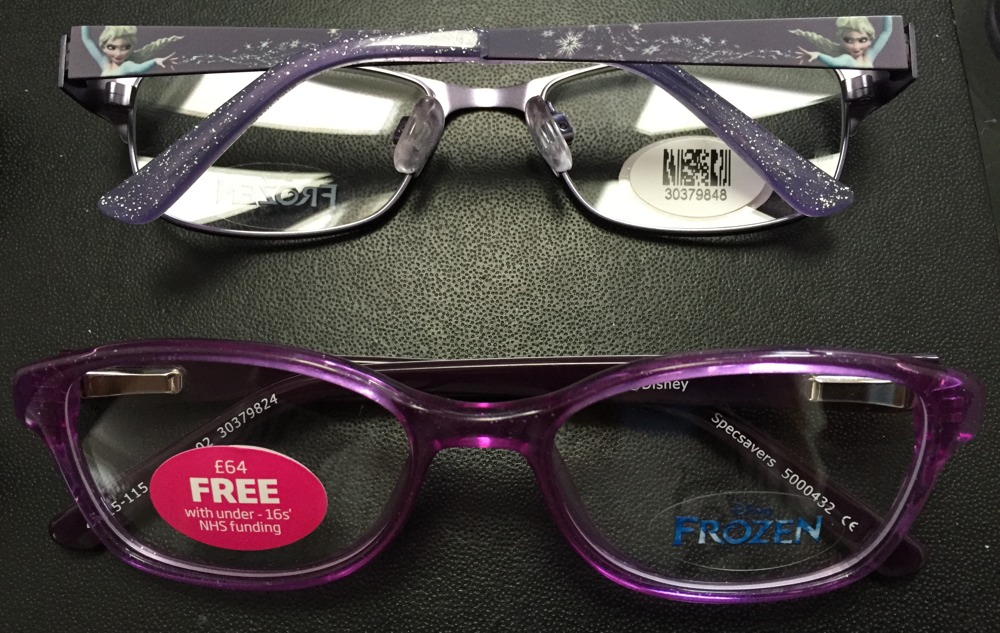 Frozen Glasses At Specsavers