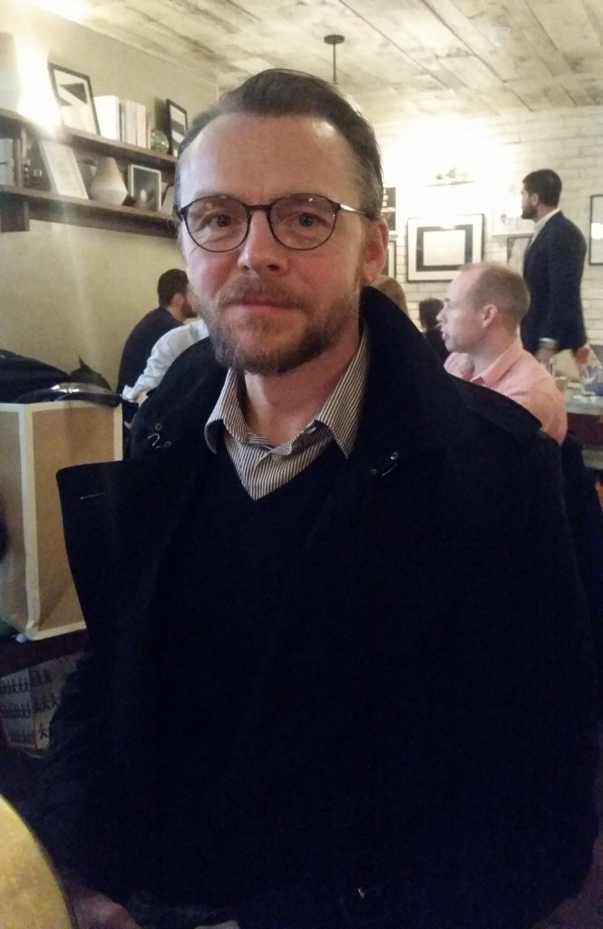Simon Pegg wearing Silhouette full rim SPX Illusion