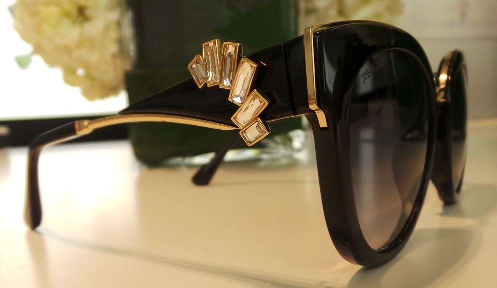 Jimmy Choo Eyewear with Cliip on Earrings
