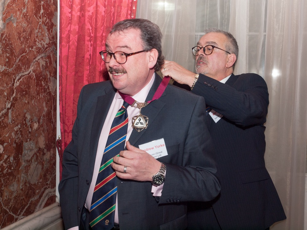 FMO former Chairman Mark Truss passing the baton onto Andy Yorke