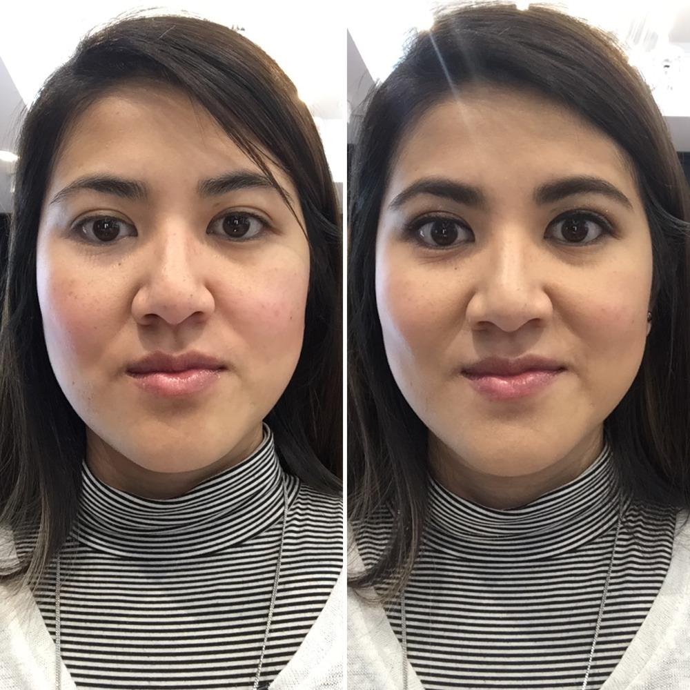 Bobbi Brown Make Over Before and After shot