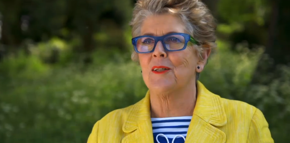 Prue Leith Glasses in The Great British Bake Off episode 2