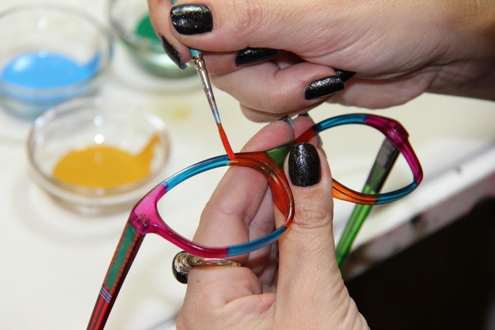 Ronit Furst Hand Painted Glasses