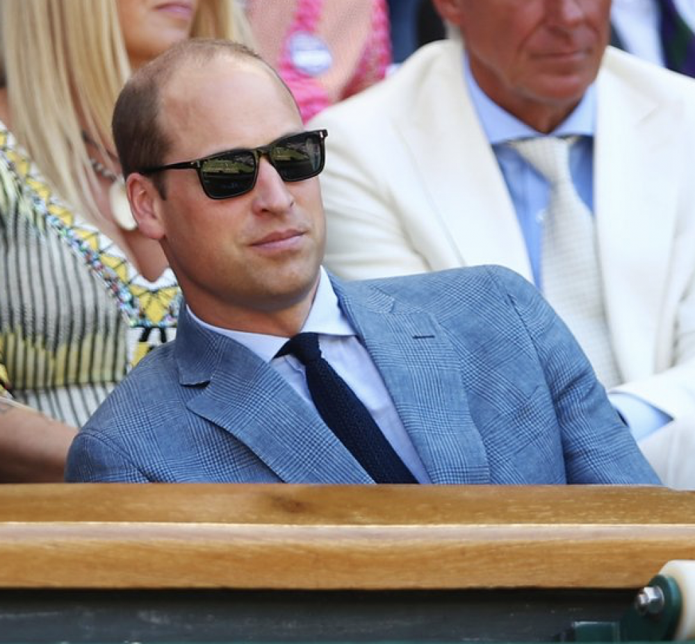 Prince William at Wimbledon men's final